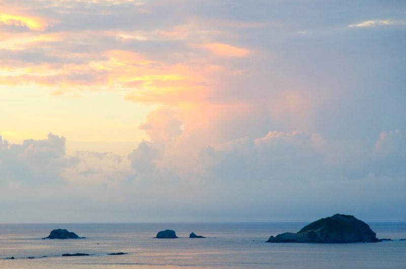 Sunset view at Arenas Del Mar