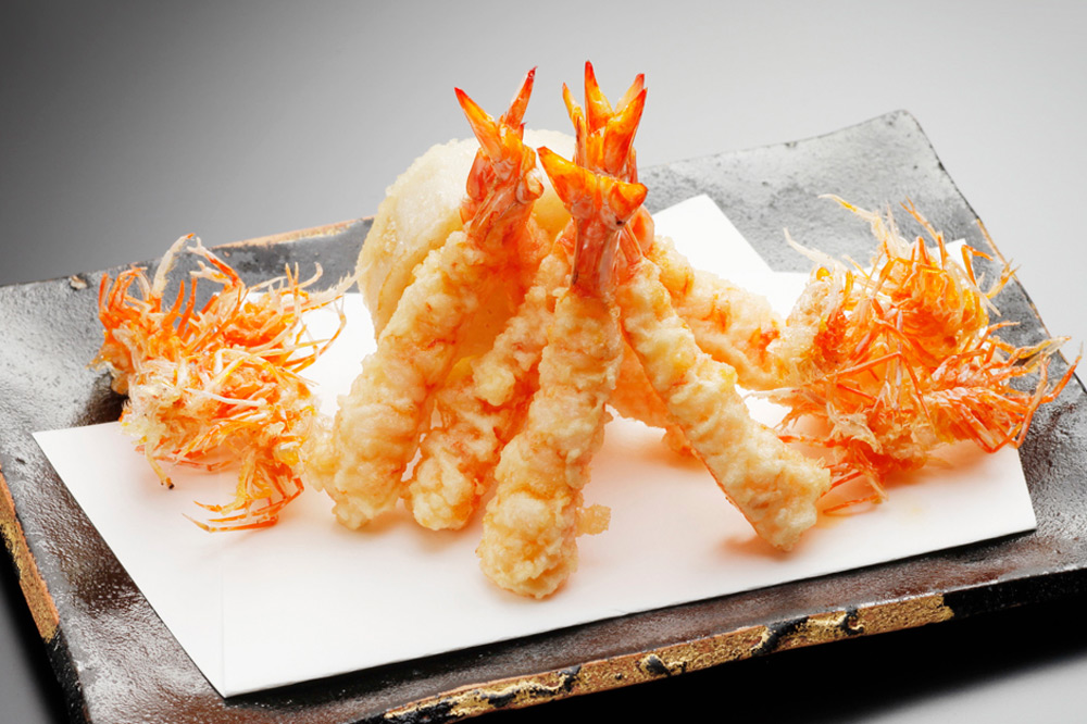 Shrimp tempura at <em>Tempura Matsui</em>