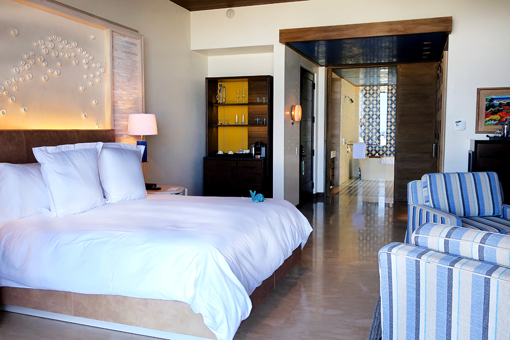 Our Ocean View Room at Chileno Bay Resort in Los Cabos, Mexico  - Photo by Andrew Harper