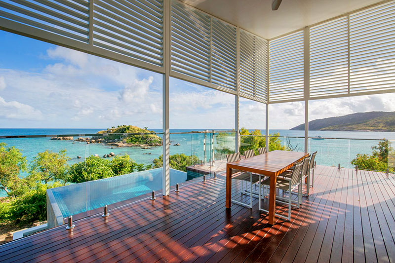 View from The Pavilion balcony at Lizard Island