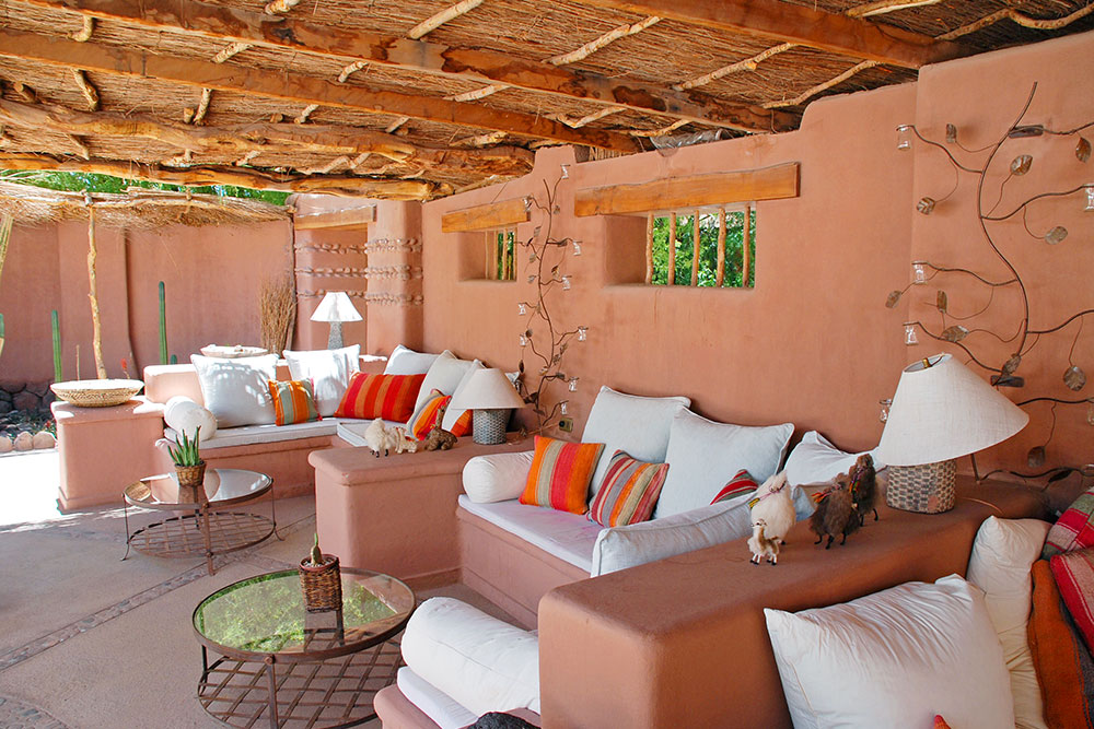 Outdoor lounge at Awasi Atacama