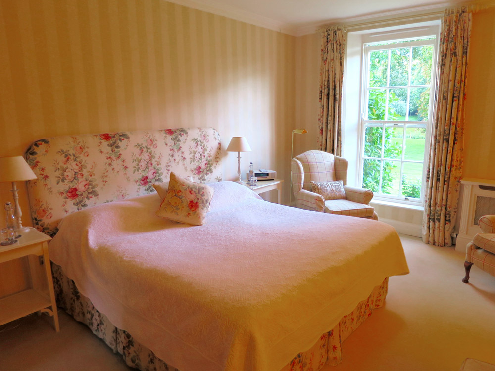 Our bedroom at Ballymaloe House