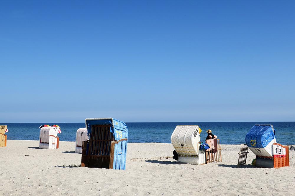 Hohwacht Beach along the Baltic coast of Germany