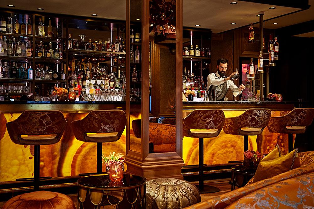 The bar at Hotel TwentySeven