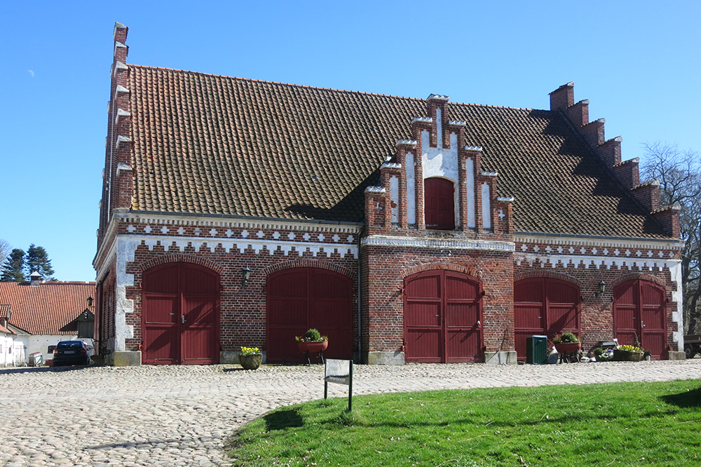 A barn on the grounds of Dragsholm Slot