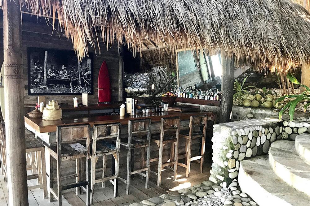 The beach bar at Nihi Sumba