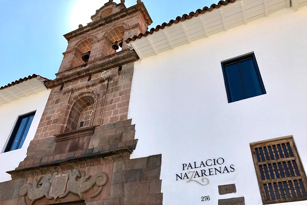 The exterior of Belmond Palacio Nazarenas