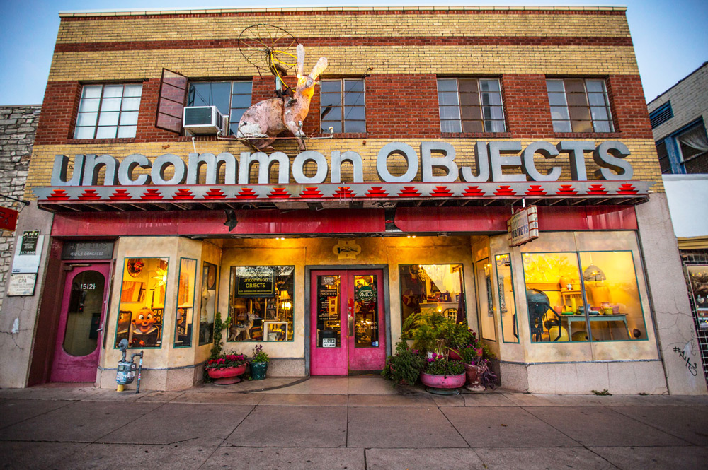 Store front of Uncommon Objects on Congress