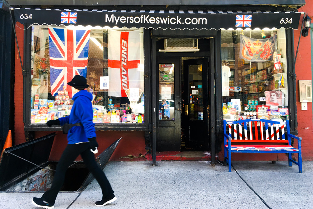 Colorful exterior of Myers of Keswick