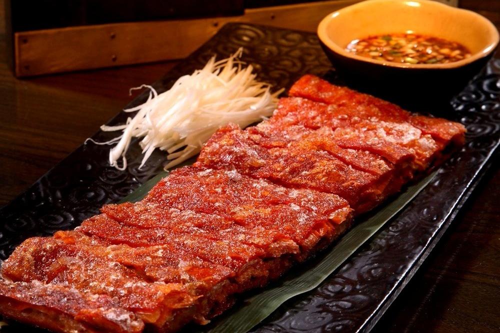 Crispy deboned lamb ribs at <em>Hutong</em>