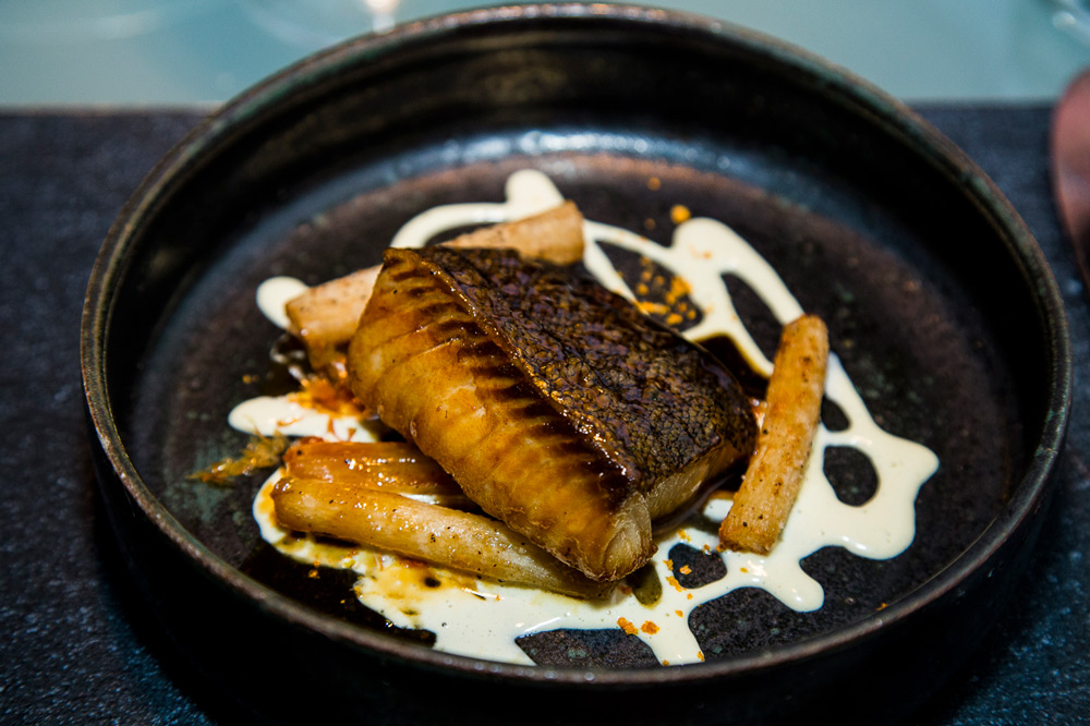 Black cod with bonito sauce at <em>Glass Hostaria</em>