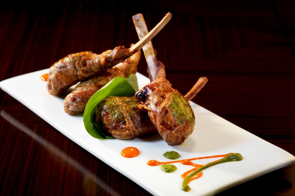 The smoked chili lamb chops at <em>Amaya</em>