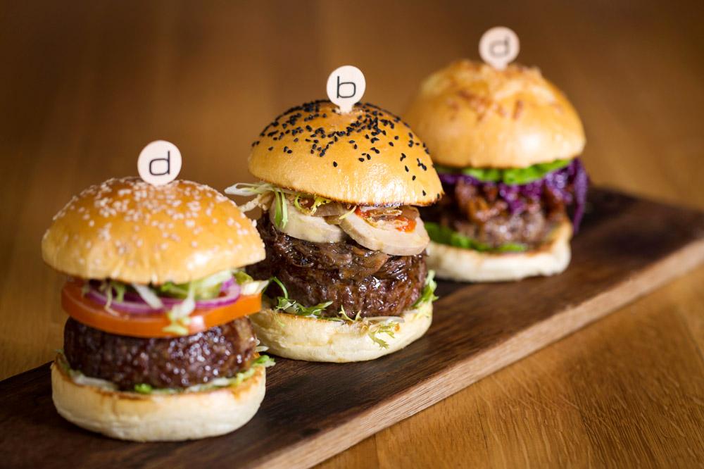 The burgers at <em>Bar Boulud</em>