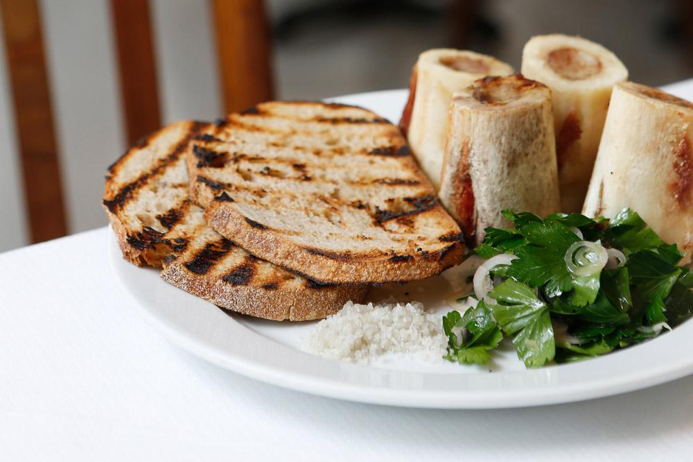 The roasted marrowbones and parsley salad at <em>St. John</em>