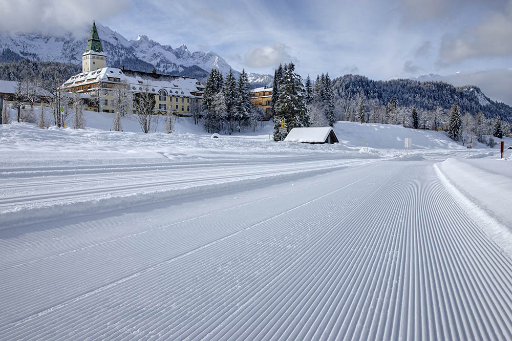 Schloss Elmau in Krün, Germany, is uniquely positioned to take advantage of Bavaria's many winter attractions.
