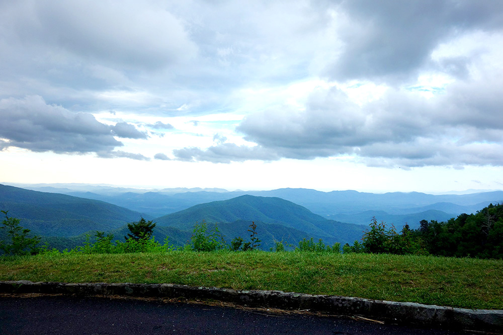 A view from the Blue Ridge Parkway in North Carolina