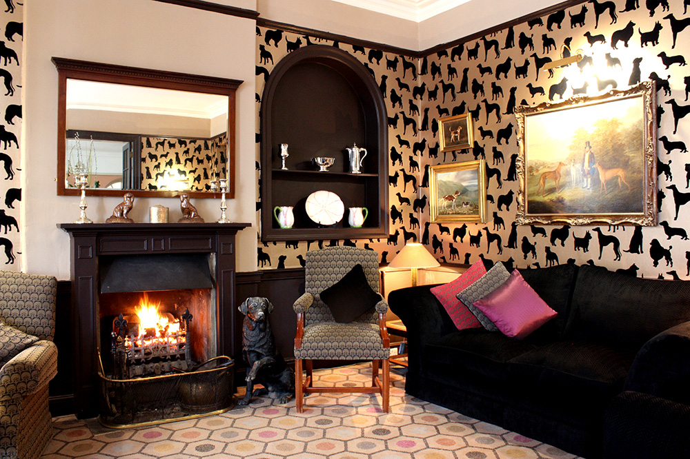 The Dog Lounge at The Devonshire Arms Hotel & Spa on the Bolton Abbey estate in North Yorkshire, England