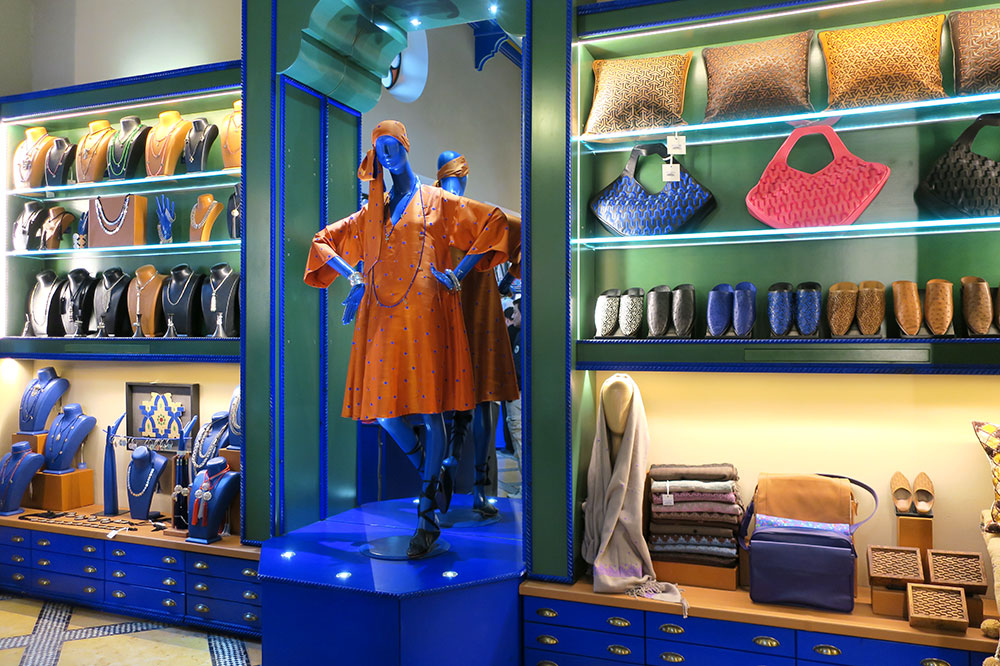 Accessories from Boutique Majorelle, a shop inside Majorelle Gardens