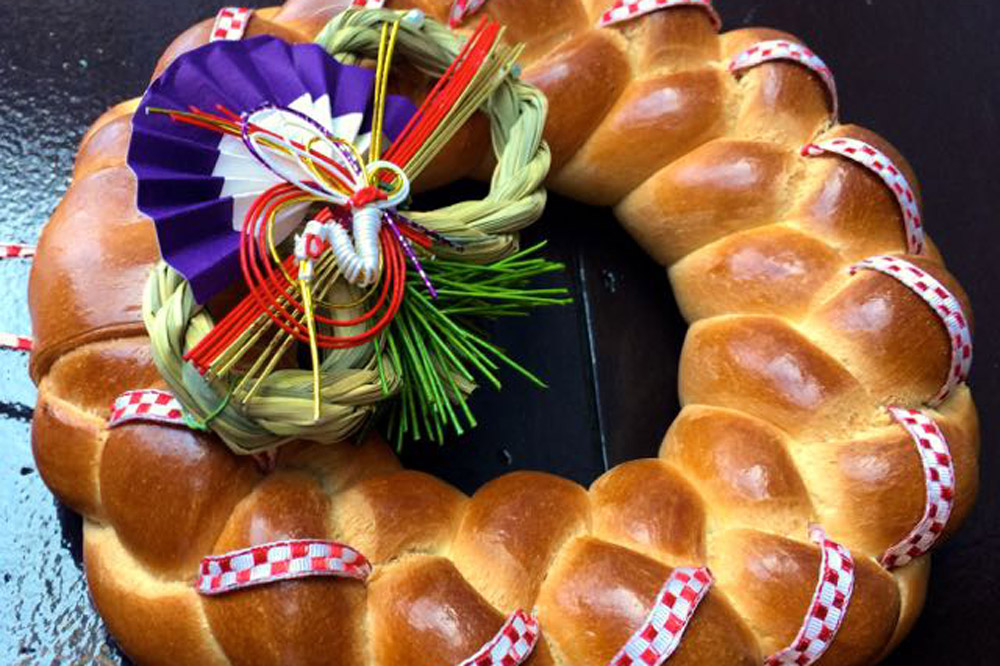The eponymous Zopf, a sweet, braided milk bread similar to challah, at <em>Backstube Zopf</em> in Matsudo City, Japan