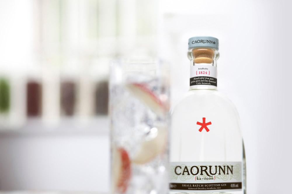 A bottle of Caorunn gin