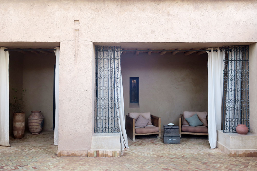 The exterior of our Superior Suite at Dar Ahlam in Skoura, Morocco