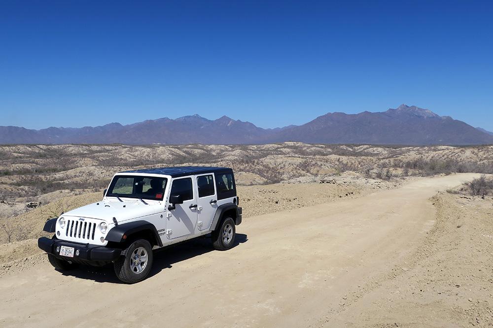 En route to Rancho Las Calabazas through the desert