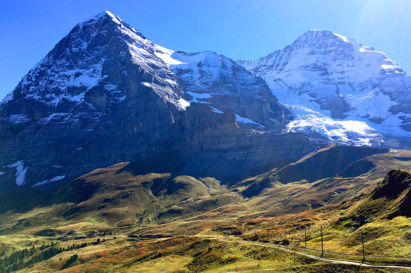View of the Eiger and the Mönch from Kleine Scheidegg - Photo by Andrew Harper