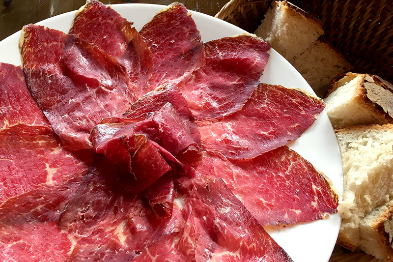 Carpaccio at Bodega El Capricho