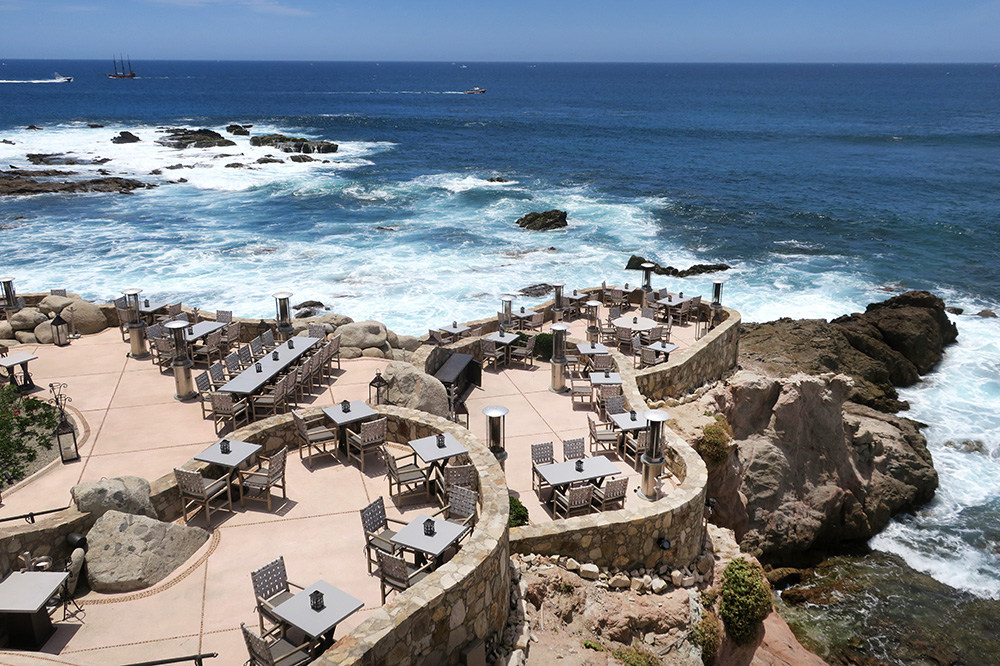 The view of <em>Cocina del Mar</em> and the ocean at Esperanza in Los Cabos, Mexico  - Photo by Andrew Harper