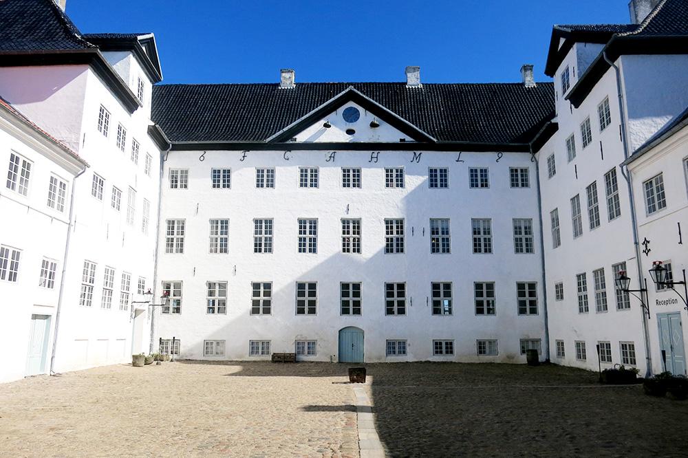 The exterior of Dragsholm Slot in Hørve, Denmark