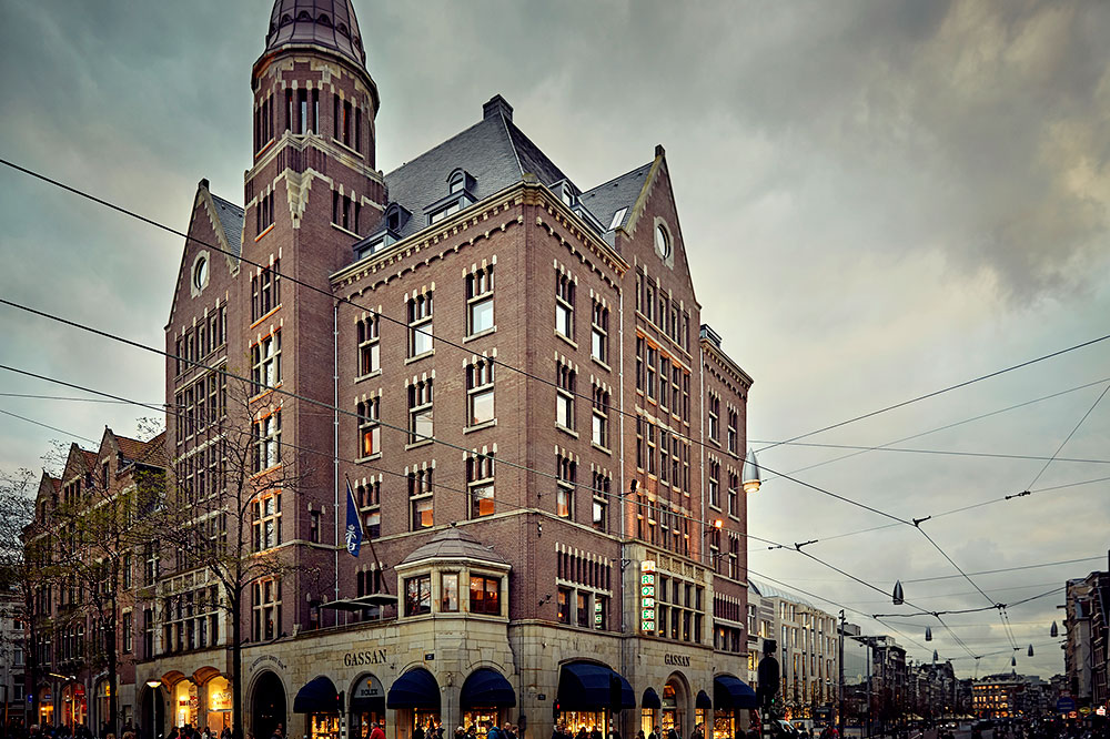 The art nouveau Hotel TwentySeven, overlooking Dam Square, in Amsterdam