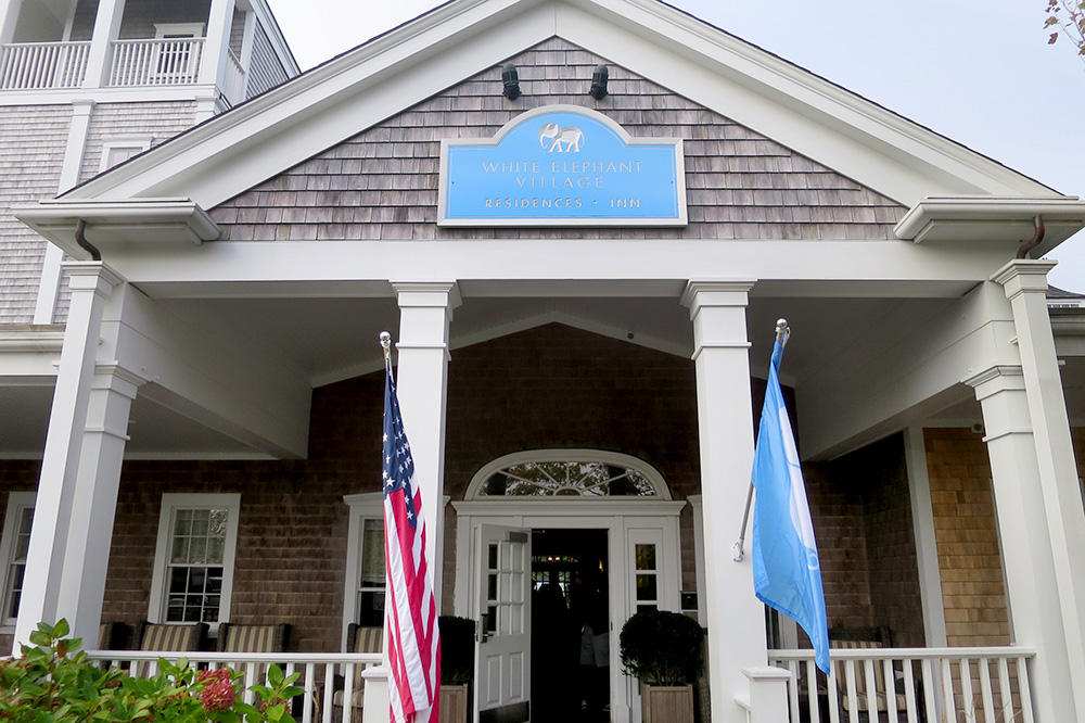 The exterior of the Inn at White Elephant Village