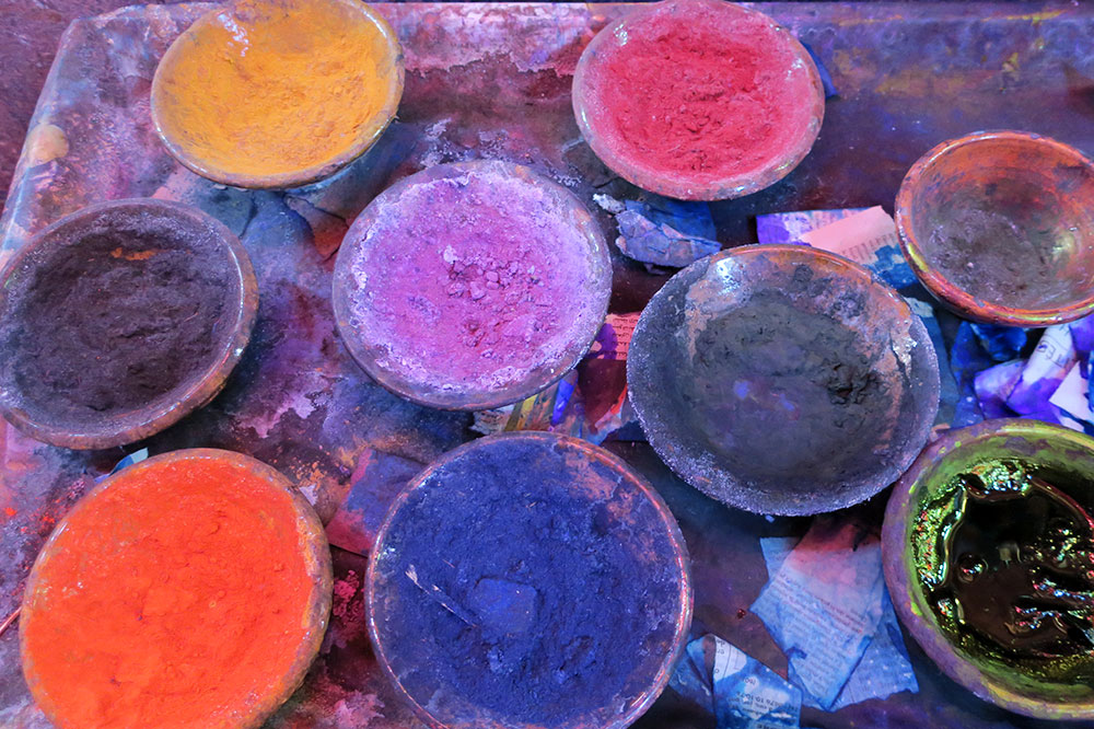 Fabric dyes from Souk des Teinturiers
