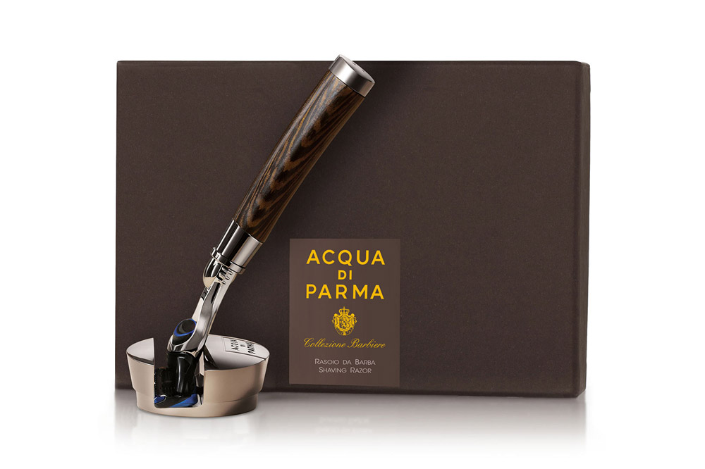 The Acqua di Parma Fusion Razor Stand