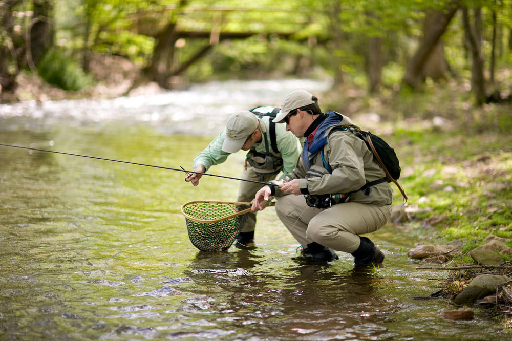 A guided fly-fishing tour at Blackberry Farm