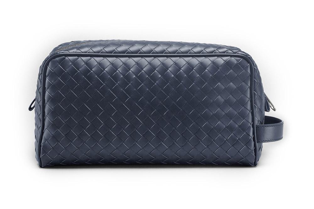 The Bottega Veneta Woven Leather Toiletry Kit