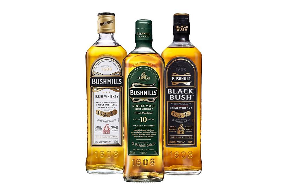 Trio of Bushmill Irish Whiskeys
