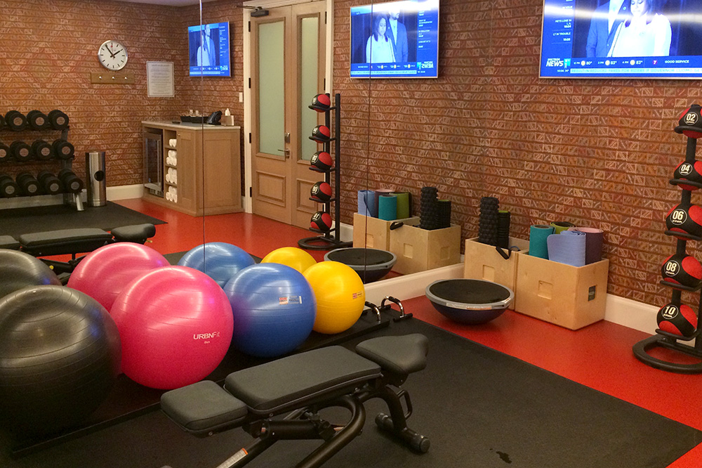 The fitness center at The Whitby Hotel