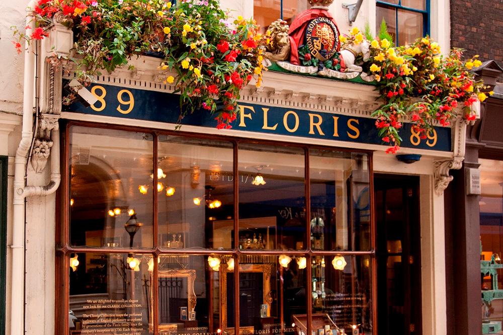 The exterior of Floris, a perfume shop