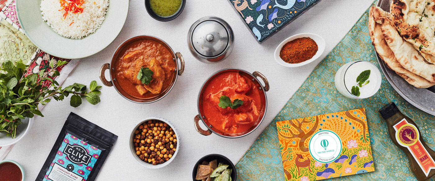 Food subscription boxes travel treats andrew harper dishes made from the items in the try the world india box try the world forumfinder Image collections