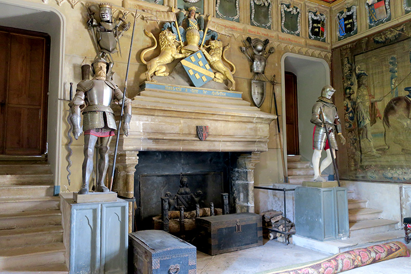 Guard room at Château de Chastellux - Photo by Andrew Harper