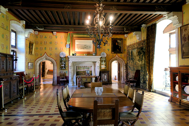 Dining room at Château de la Rochepot - Photo by Andrew Harper