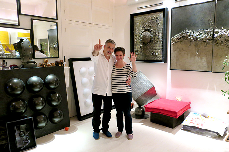 Dan and Cindy Kowalski at their studio in Dole - Photo by Andrew Harper
