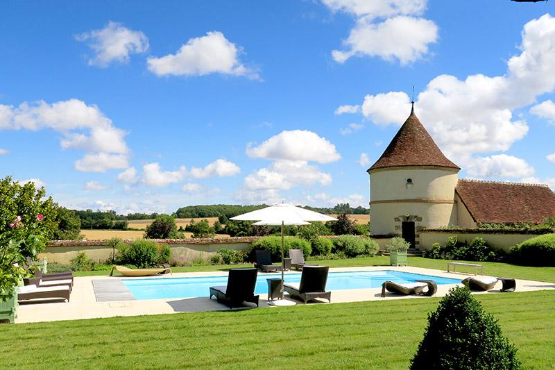 Pool at La Borde