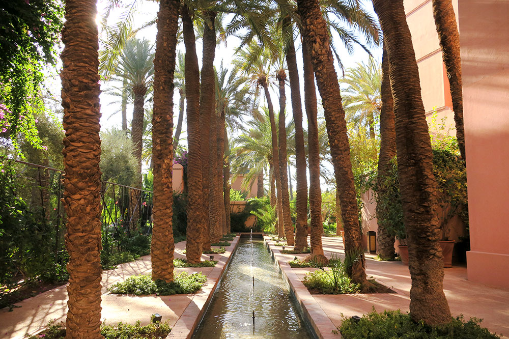 A garden on the grounds of Royal Mansour