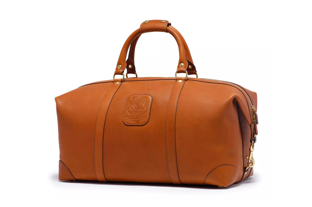 Ghurka Unisex Cavalier III No. 98 | Chestnut Leather Duffel Bag