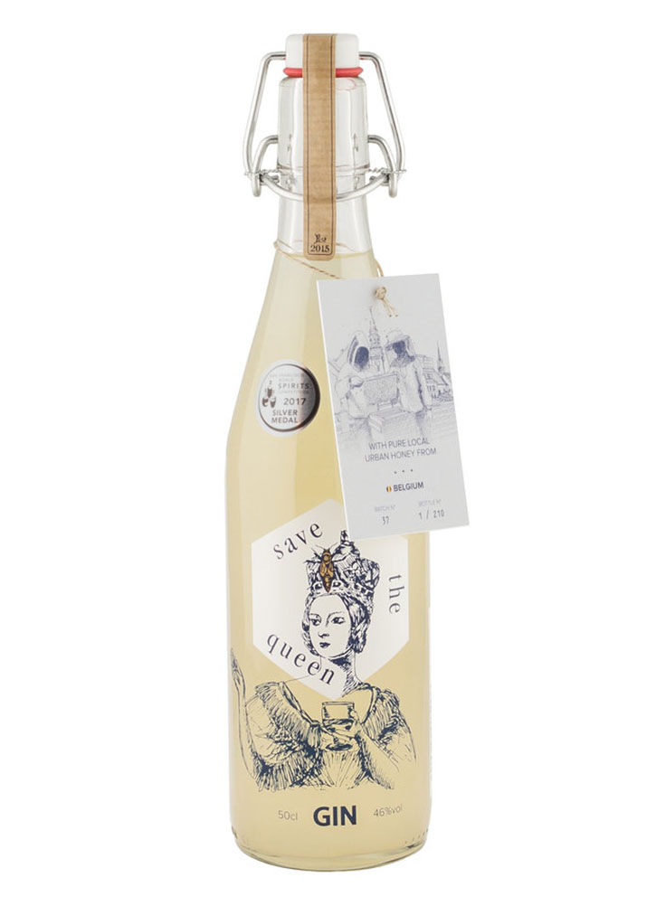 A bottle of Save the Queen Gin