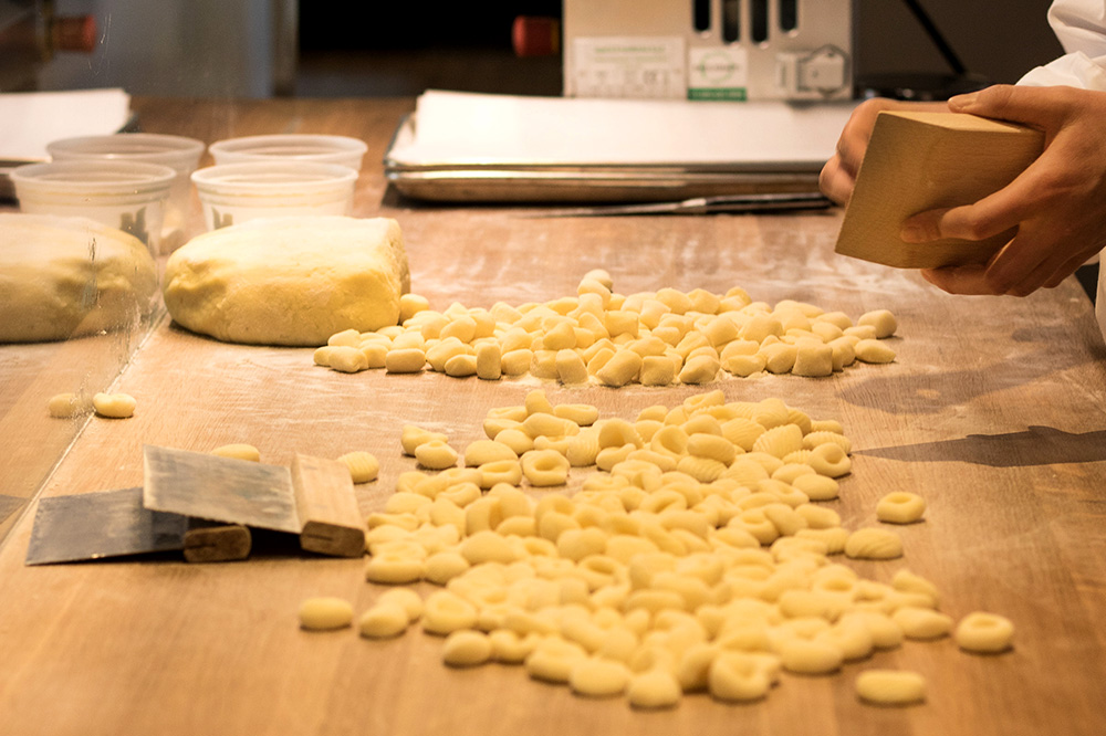 Gnocchi being rolled at Tavernetta in Denver, Colorado