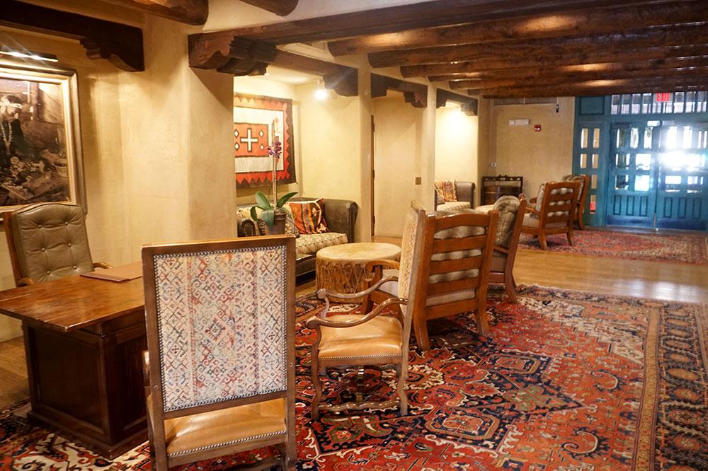 The lobby of The Hacienda at Hotel Santa Fe
