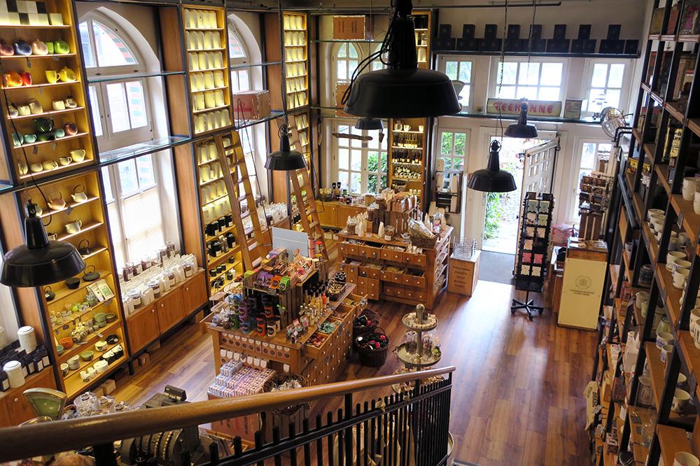 The interior of the tea shop at <em>Wasserschloss</em>